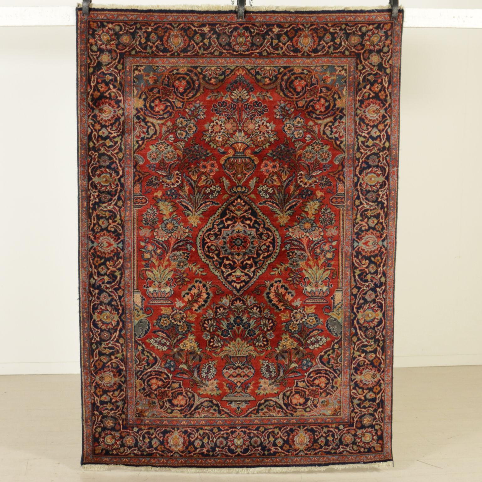 Alfombra de kashan india alfombras antiguedades for Alfombras indias