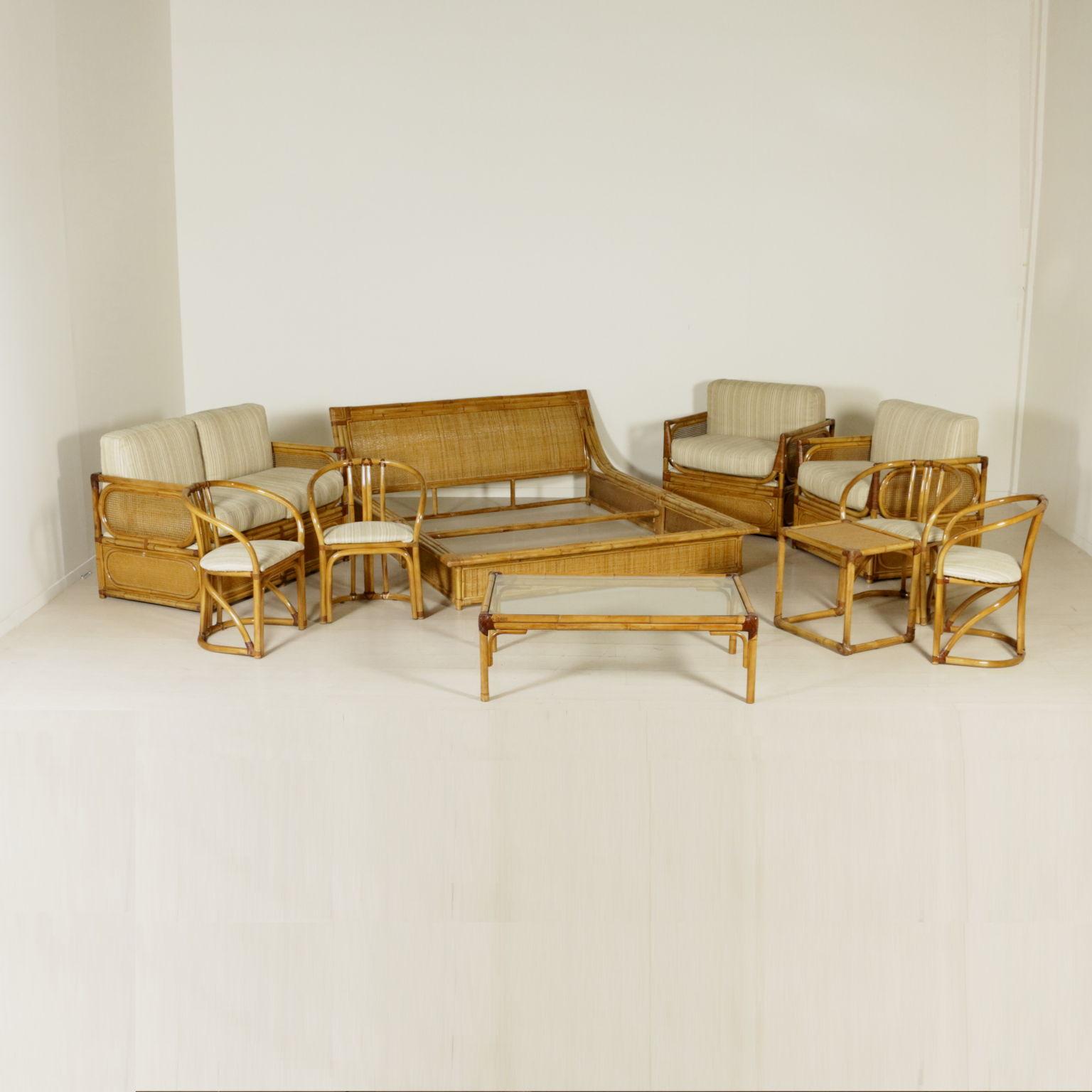 Poltrone in bamb poltrone modernariato for Arredo bambu