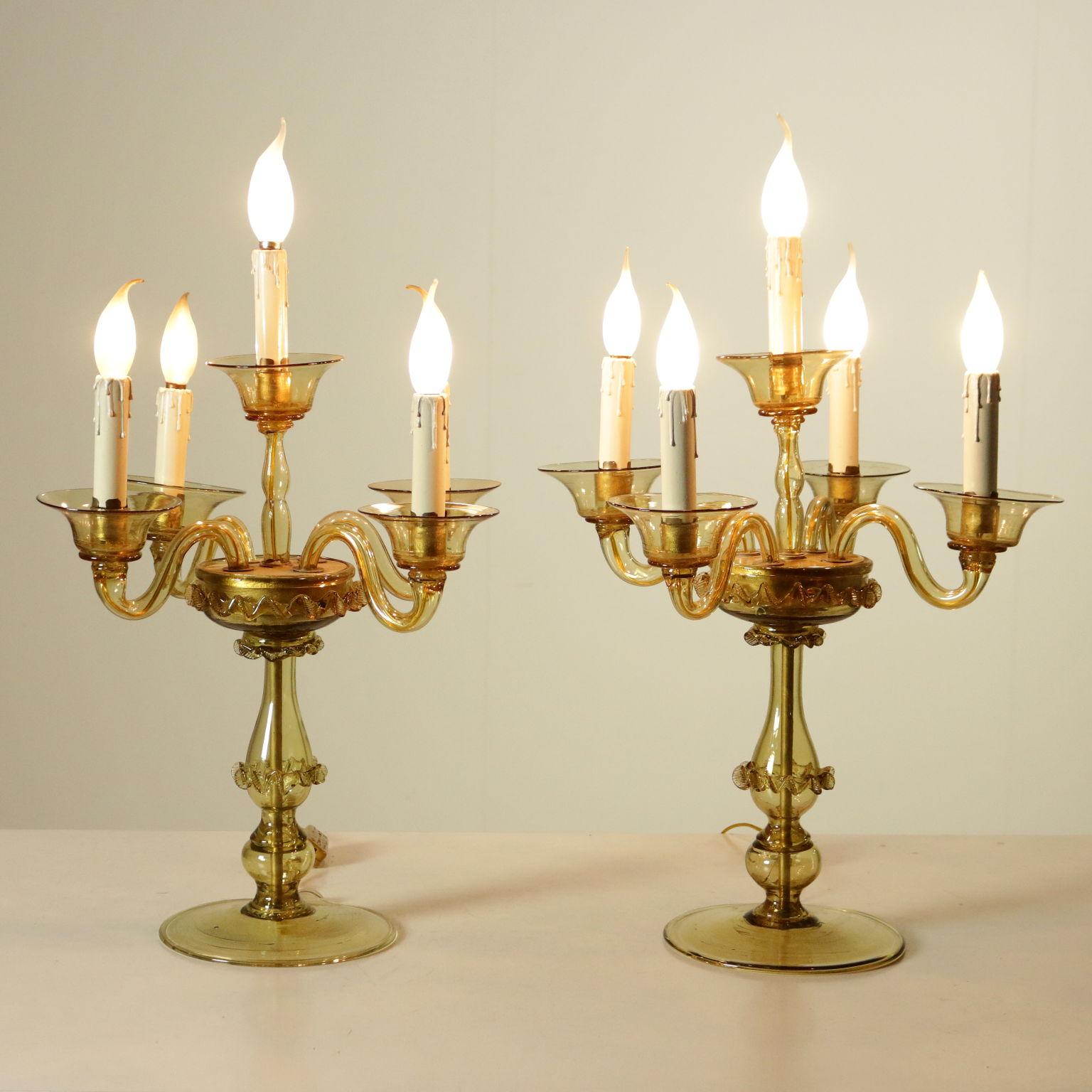 Coppia di lampade da tavolo illuminazione bottega del for Lampade tonde da tavolo