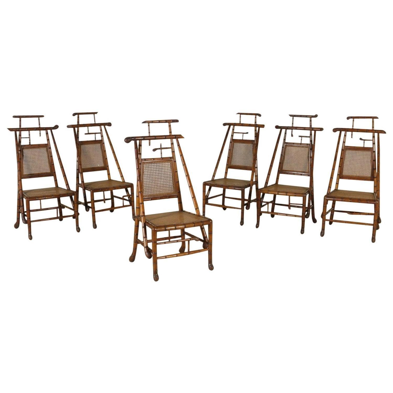 Gruppo di sei sedie in acero sedie poltrone divani for Poltrone sedie