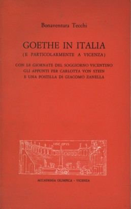 Goethe in Italy (and particularly in Vicenza)