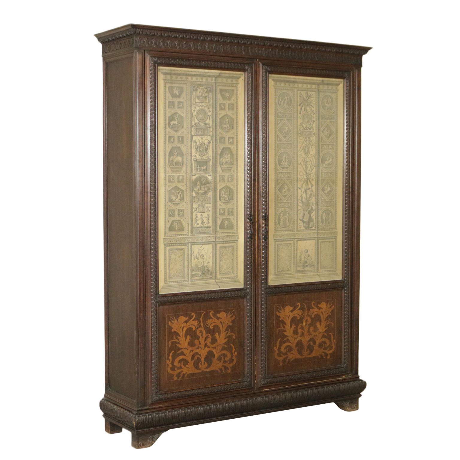 armoire biblioth que neo renaissance bottega del 900. Black Bedroom Furniture Sets. Home Design Ideas