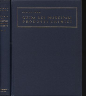 Guide of the main chemicals (2 volumes)
