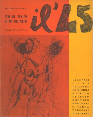 '45 German review of Art and Poetry (Milan-February, 1946-1st year No. 1)