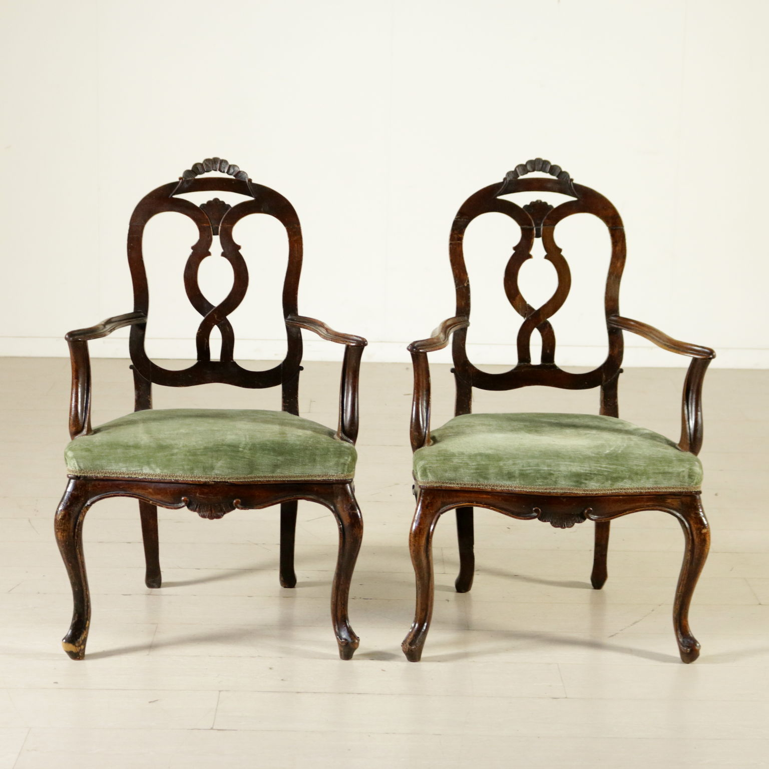 Par de sillones Barroco tardo Mesas de sillas sillones sofs