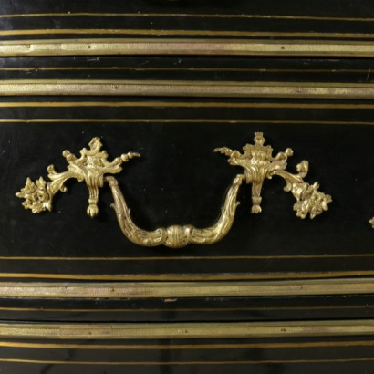 Louis XIV Dresser Ebony and Bronze France 18th Century