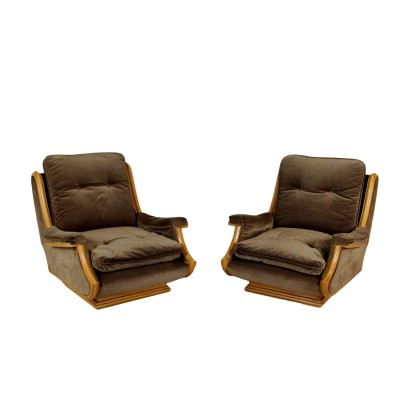 1960s-1970s Pair of Armchairs