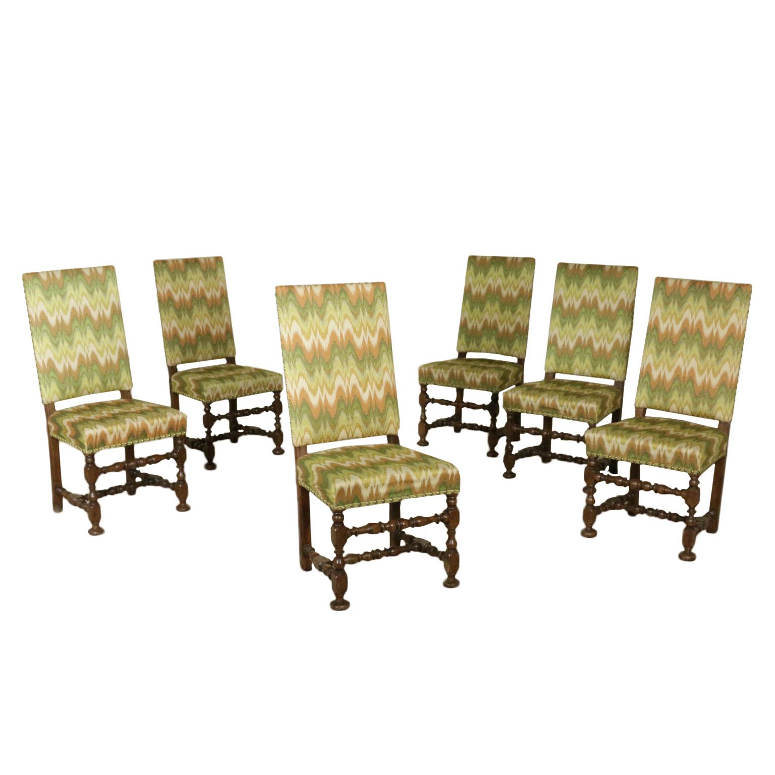 Gruppo di sei sedie a rocchetto sedie poltrone divani for Poltrone sedie