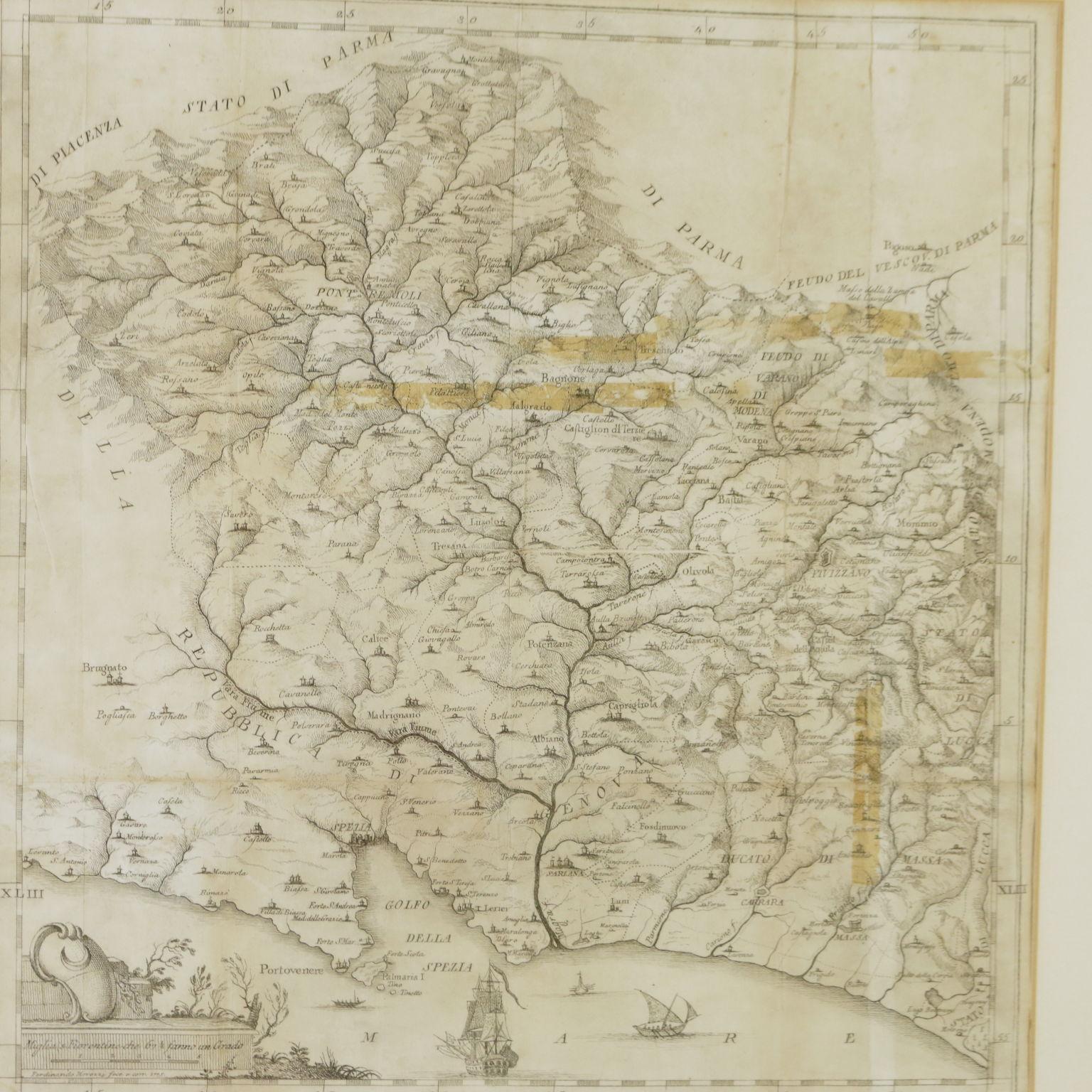 Cartina Della Grecia Antica In Italiano.Cartina Della Provincia Della Lunigiana Pittura Antica Arte Dimanoinmano It