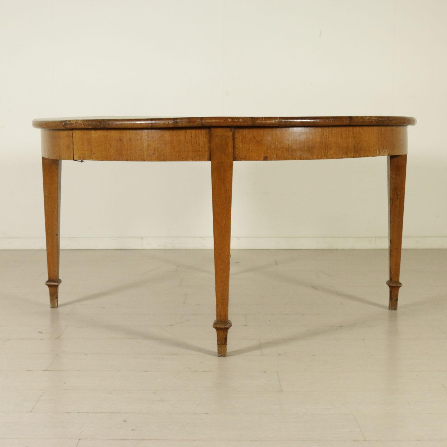 Tavolo direttorio apribile tavoli antiquariato - Tavolo tondo apribile ...