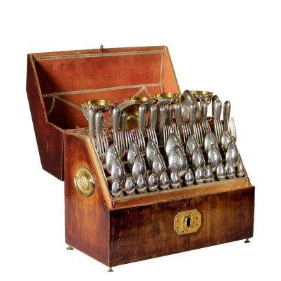 Cutlery Service with Box Italy 19th Century