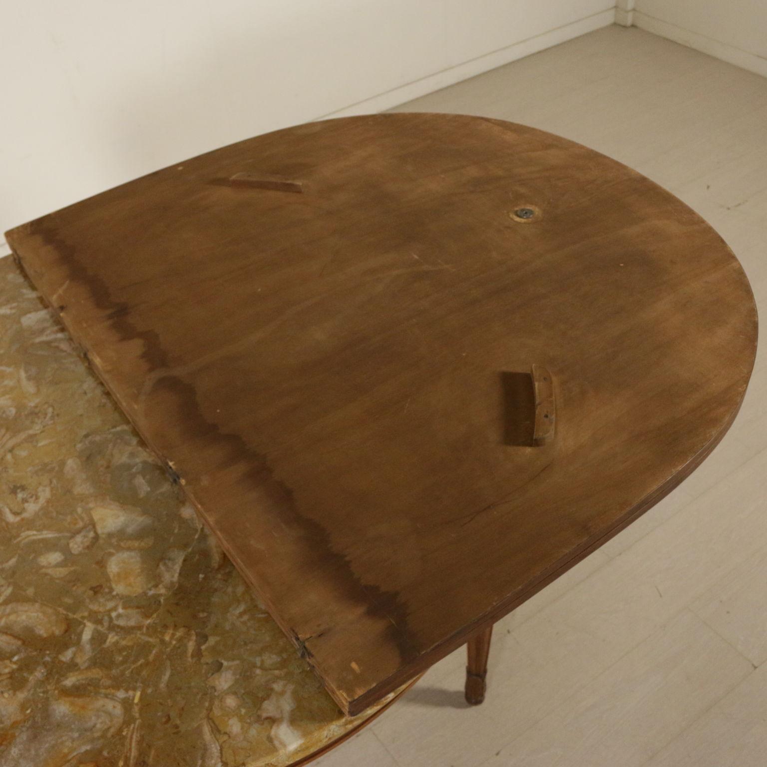 Tavolo tondo con prolunga mobili in stile bottega del - Tavolo tondo apribile ...
