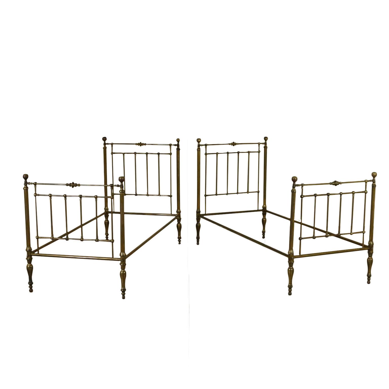 Par de camas de latón - Camas y cabeceros - Antiguedades ...
