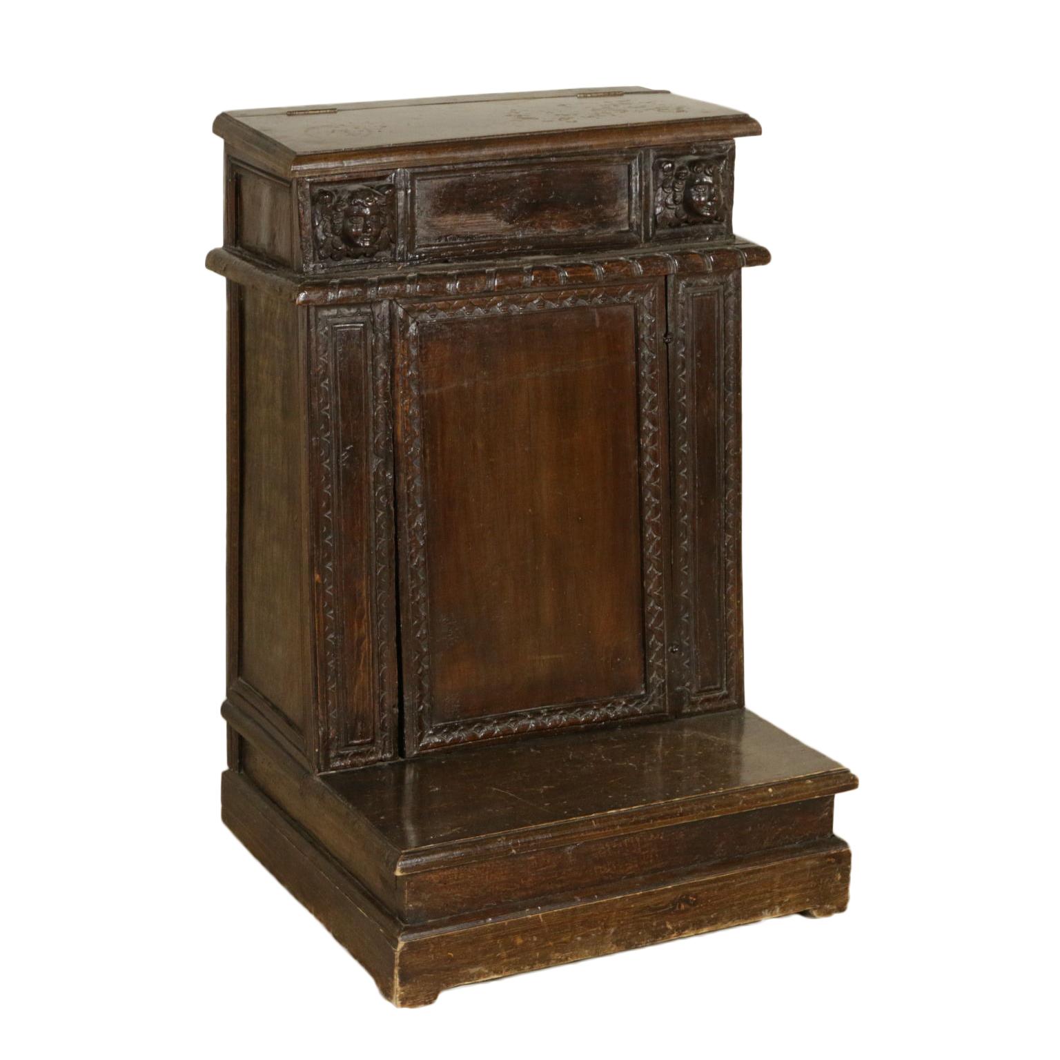 Un prie-dieu en madera de Nogal - Otros muebles - Antiguedades ...