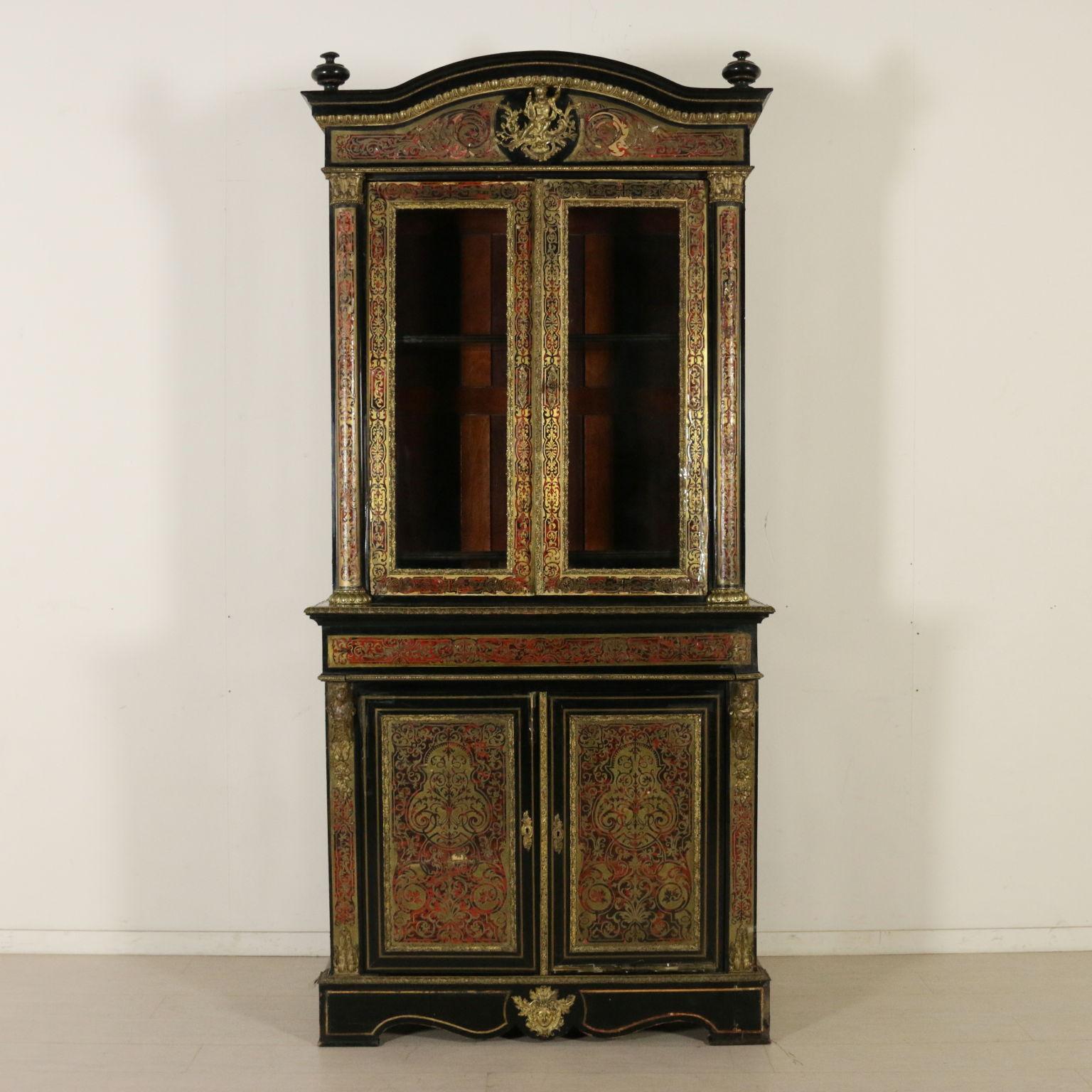 Libreria stile boulle librerie e vetrine antiquariato for Piani di libreria stile artigiano