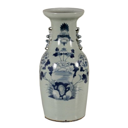 Vase Blue Decorations Made in China First Half of 1900s