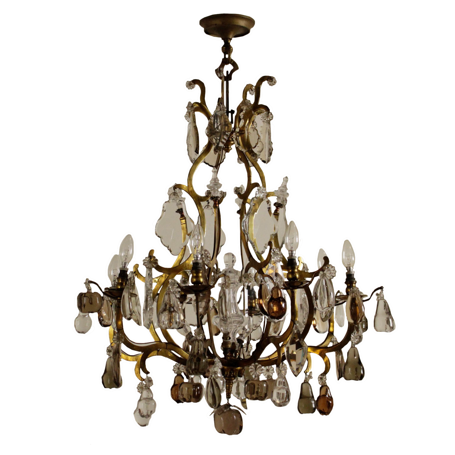 Ceiling lamp with glass fruit chandeliers and lamps antiques chandelier with fruit in the glass aloadofball Choice Image