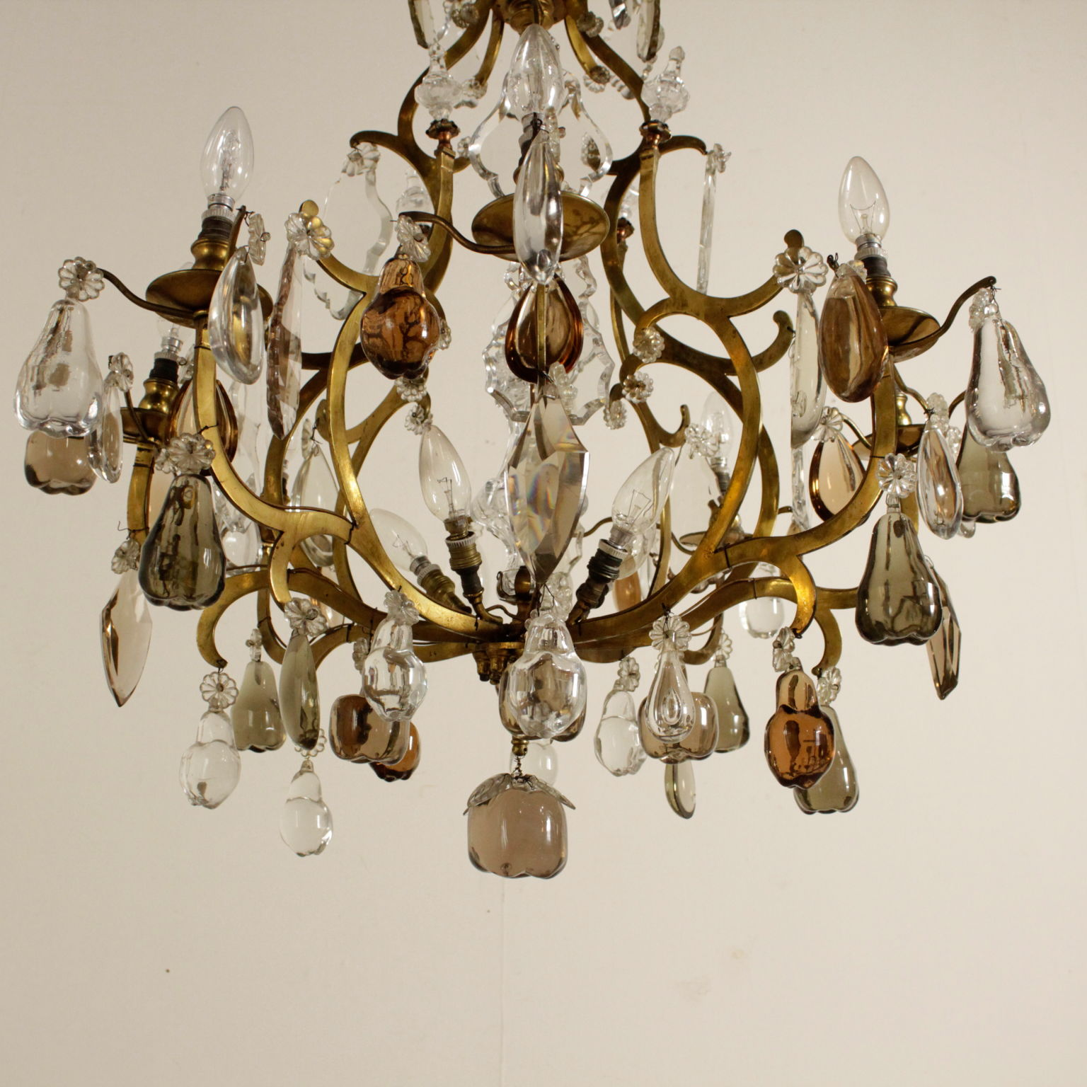 Ceiling lamp with glass fruit chandeliers and lamps antiques chandelier with fruit in the glass aloadofball Images