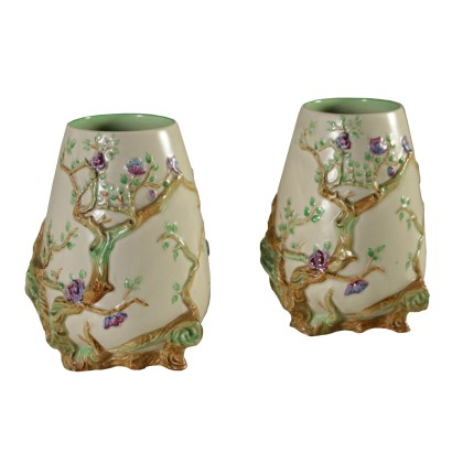 Clarice Cliff Pair of Vases England Early 20th Century
