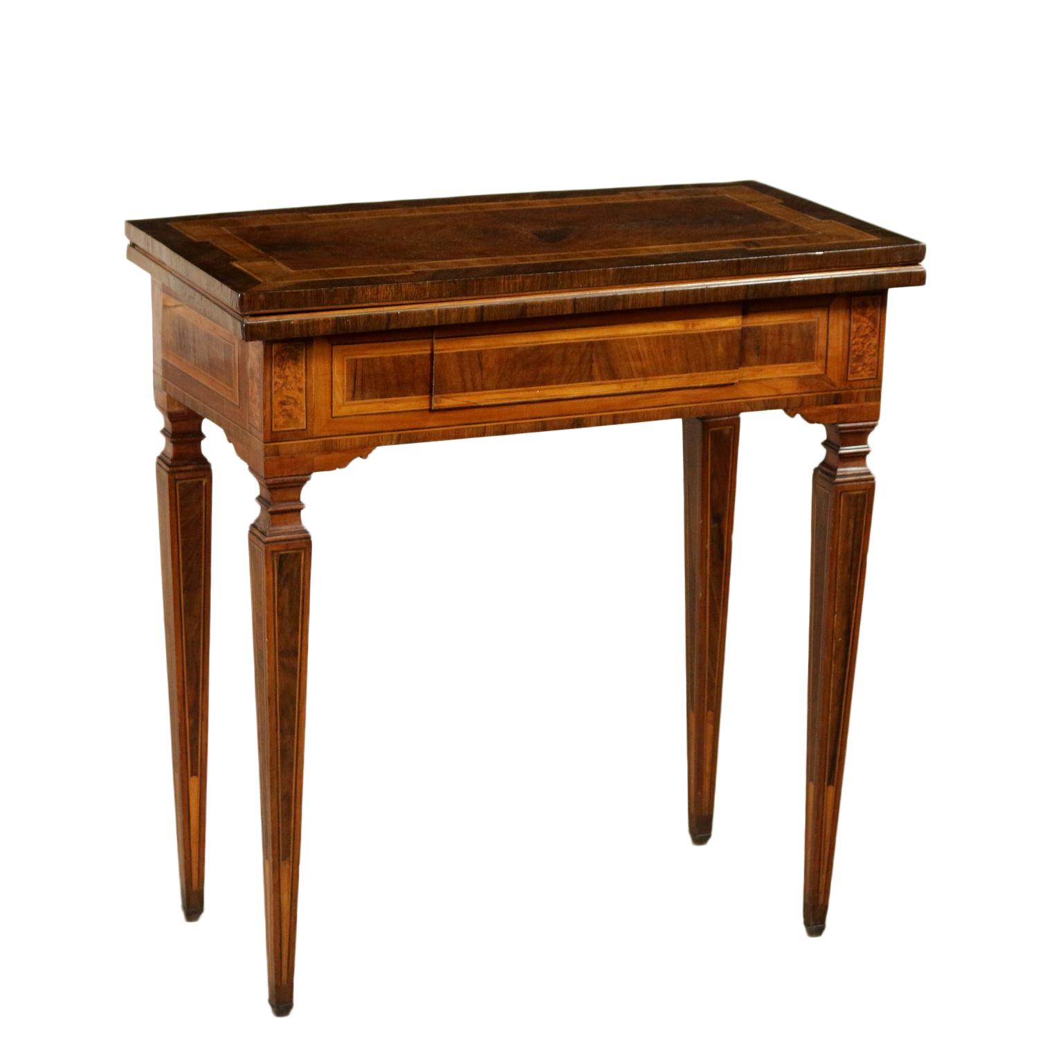 Tavolo da gioco intarsiato tavoli antiquariato - Waterloo gioco da tavolo ...
