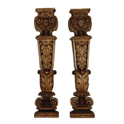 Pair of Wood Caryatids