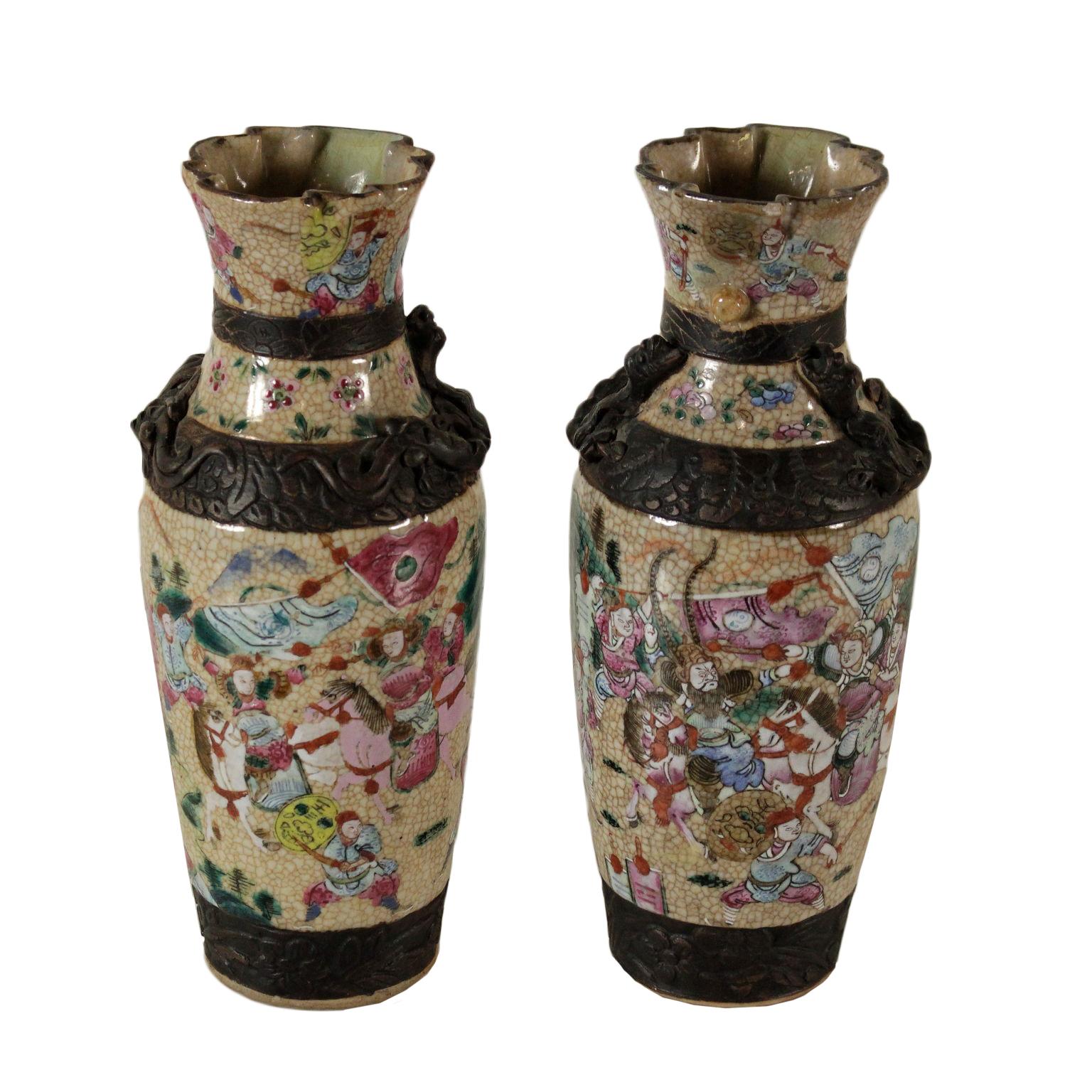Coppia di vasi cinesi ceramiche antiquariato for Vasi cinesi antichi antiquariato