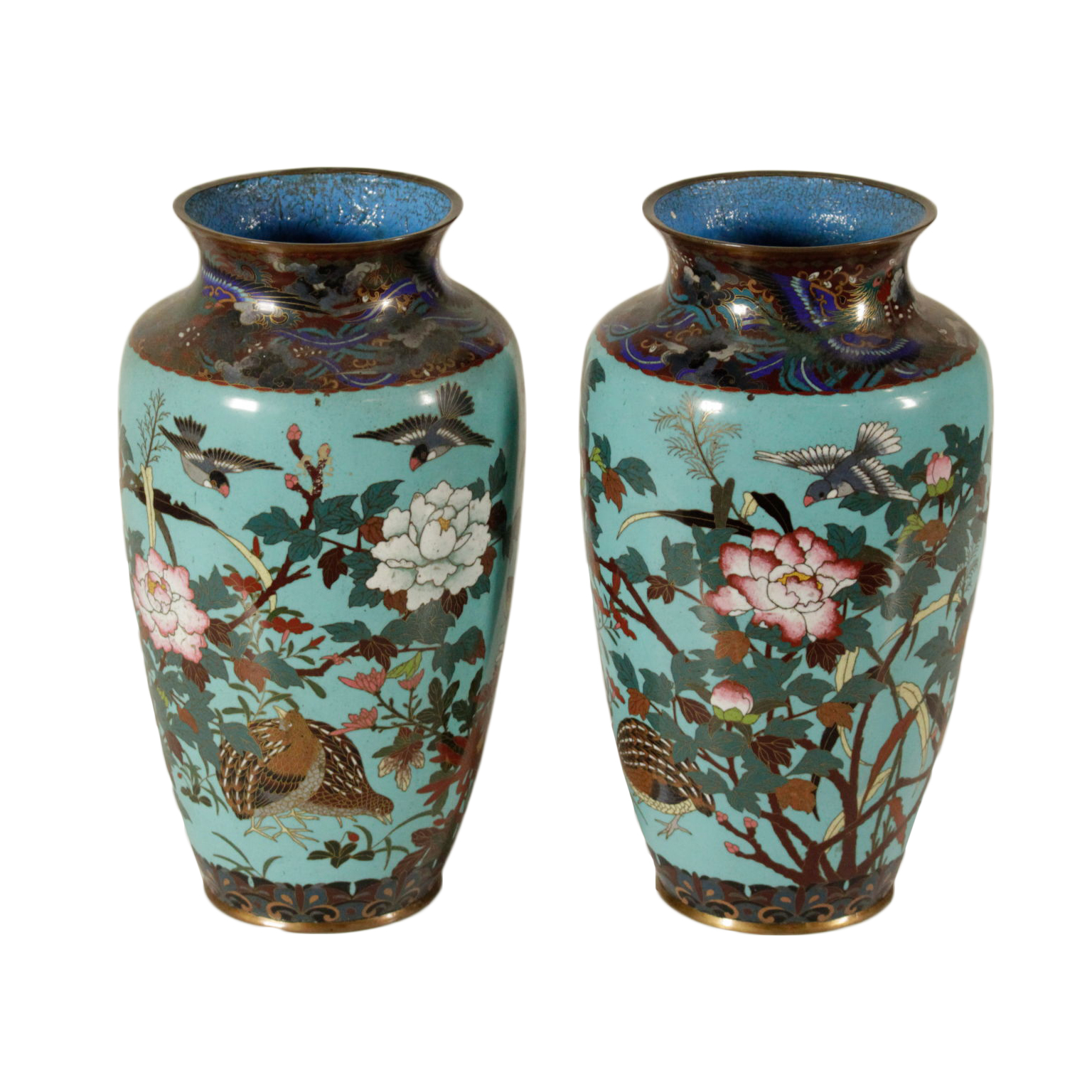 Coppia Vasi In Cloisonnè Other Asian Antiques Asian Antiques