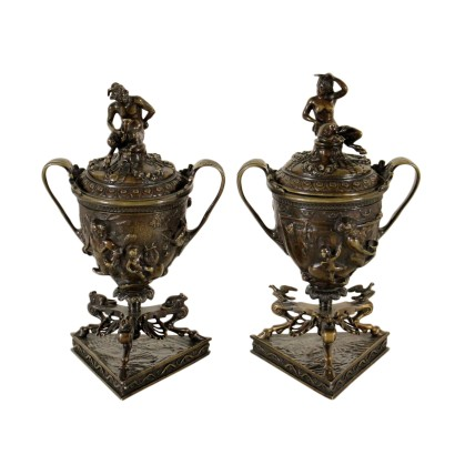 Pair of Incense Burners by Antonio Pandiani