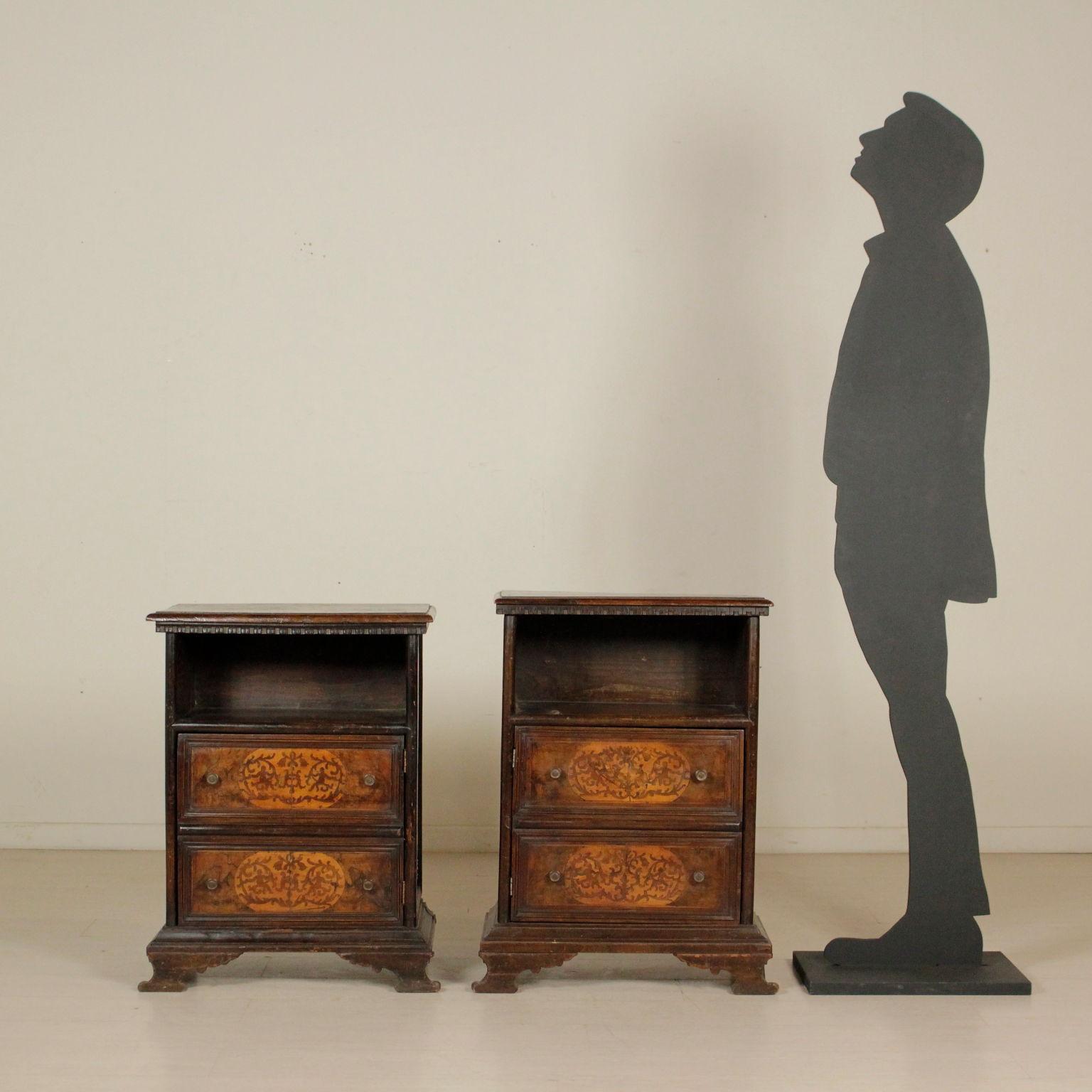 Par de mesitas de noche de Madera Antiguo - Muebles de estilo ...