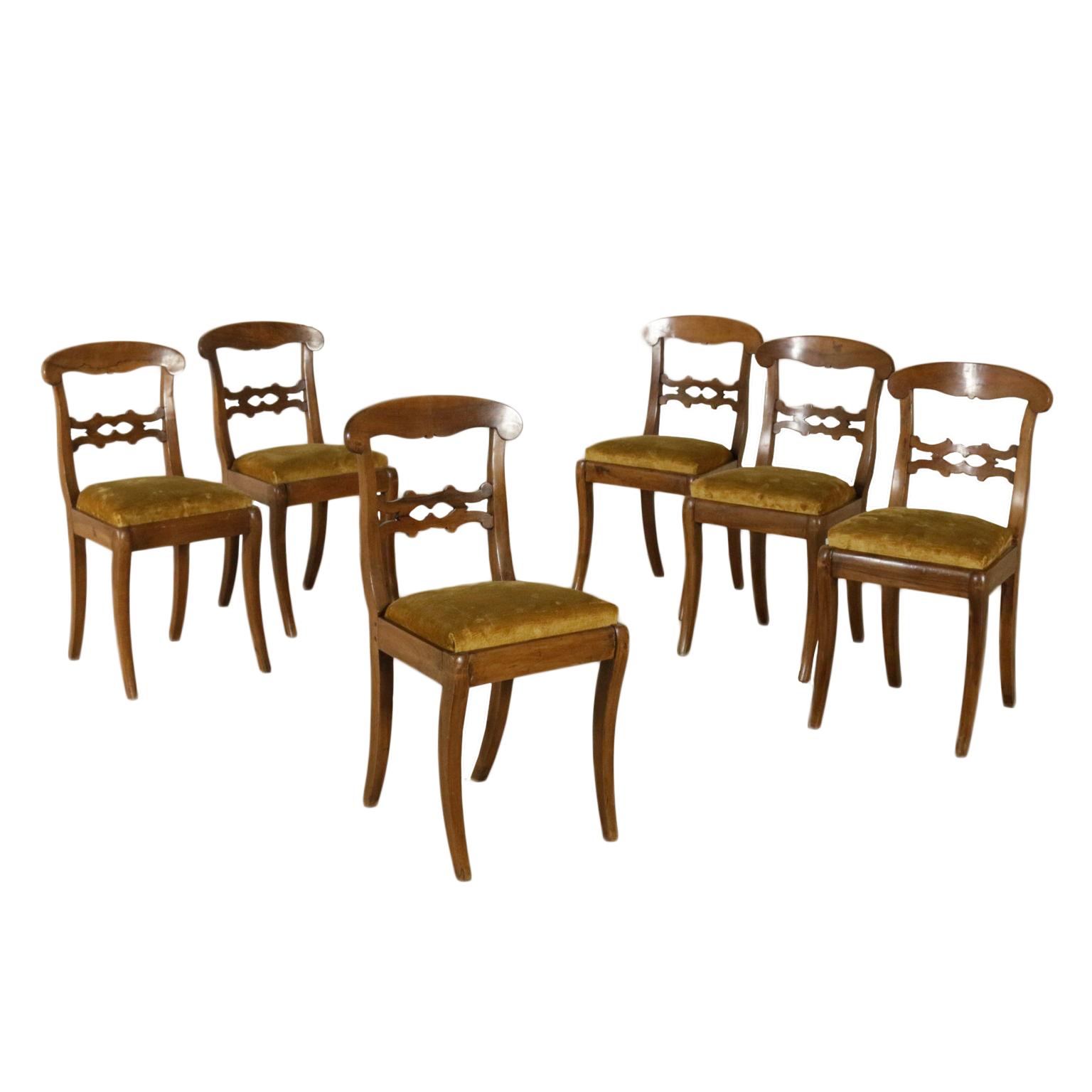 Gruppo di sei sedie 39 800 sedie poltrone divani for Poltrone sedie