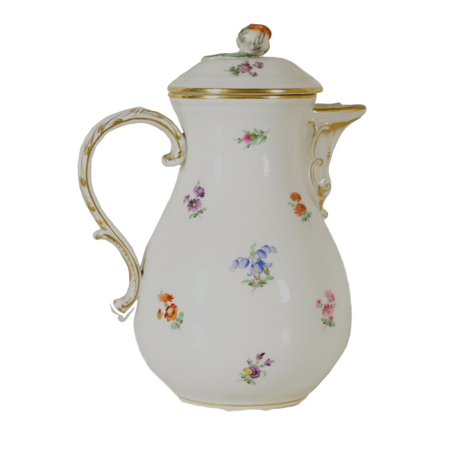 caffettiera meissen ceramiche antiquariato