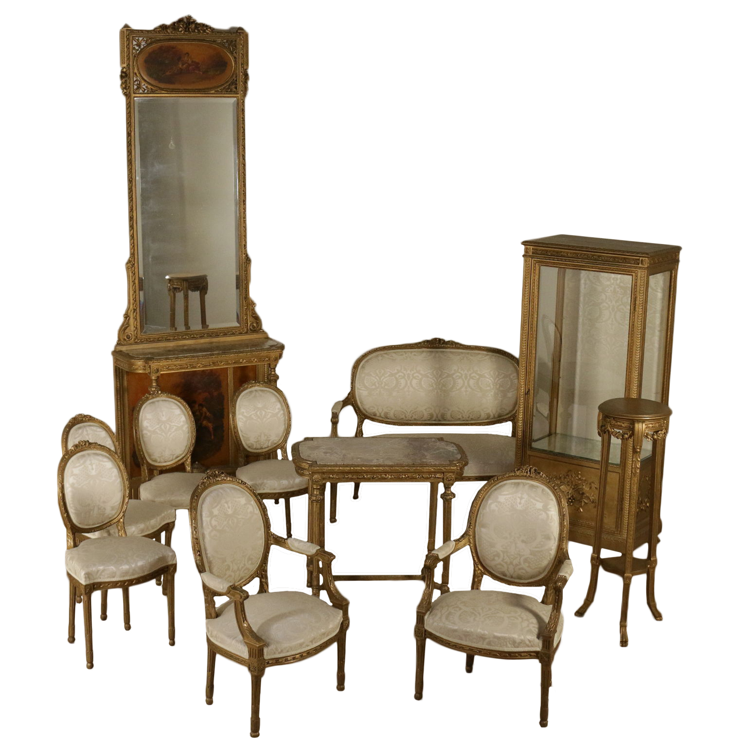 Wohnzimmer Komplett im Klassizistischen stil - Komplette Ausstattung ...
