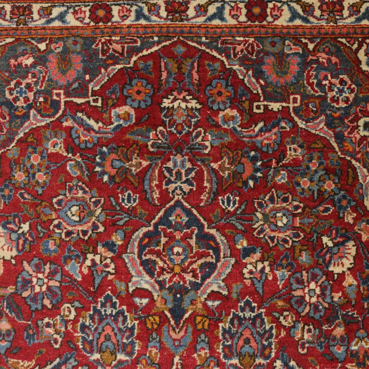 Tapis Kashan Coton Laine Fabrication Manuelle Iran Annees 30 Tapis