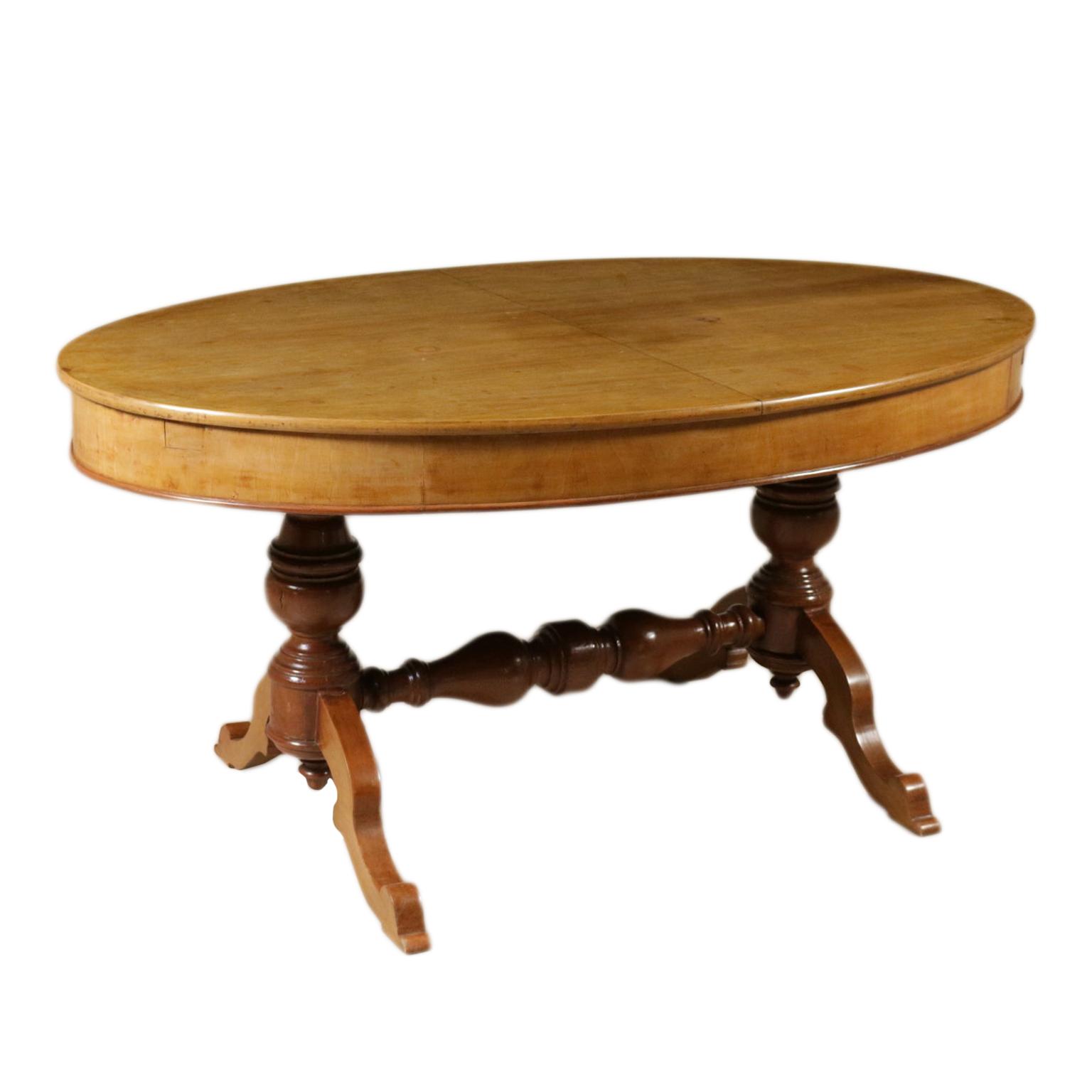 Tavolo Con Gamba Centrale Allungabile tavolo ovale allungabile - tavoli - antiquariato