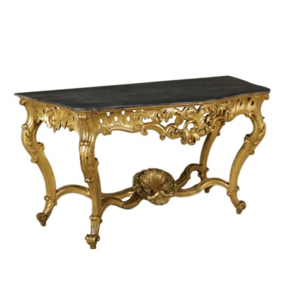 Console Table Louis Philippe Gilded Wood Italy 19th Century