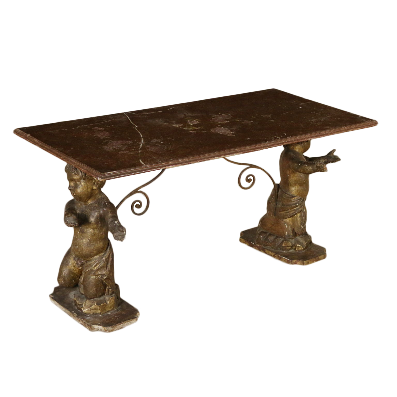 Tavolini Salotto Antichi.Tavolino Salotto Con Putti Antichi Tavolini Antiquariato