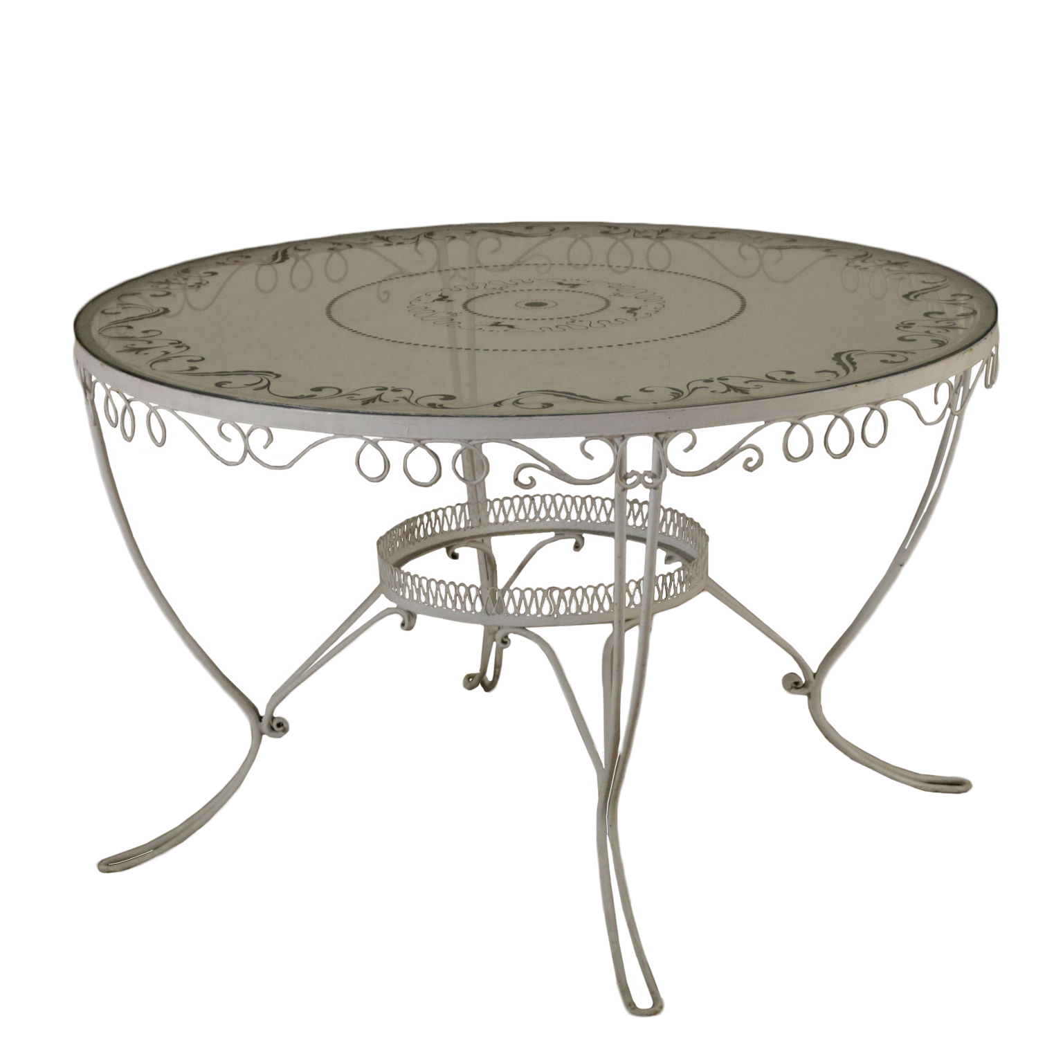 Tavolo in ferro battuto tavoli modernariato - Tavolo ferro battuto ...