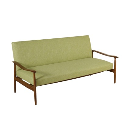 Sofa Stained Beech Springs Foam Padding Vintage Italy 1950s