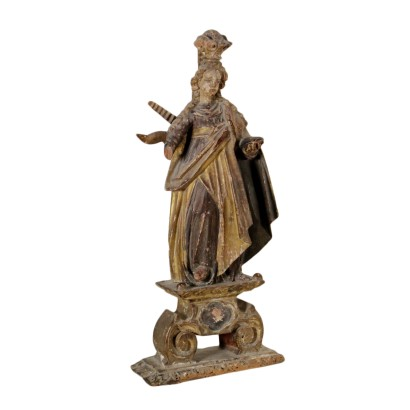 Sculpture Wood Immaculate Manufactured in Italy 17th Century