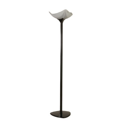 Floor Lamp Designed for Artemide Metal Glass Vintage Italy 1980s-1990s