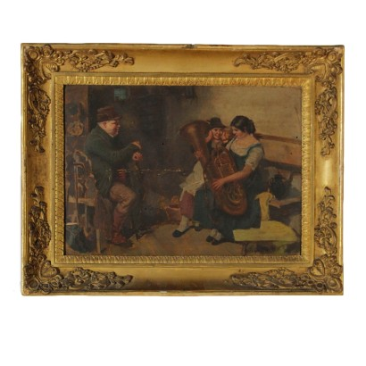 The Apprentice Player Oil on Canvas Early 20th Century