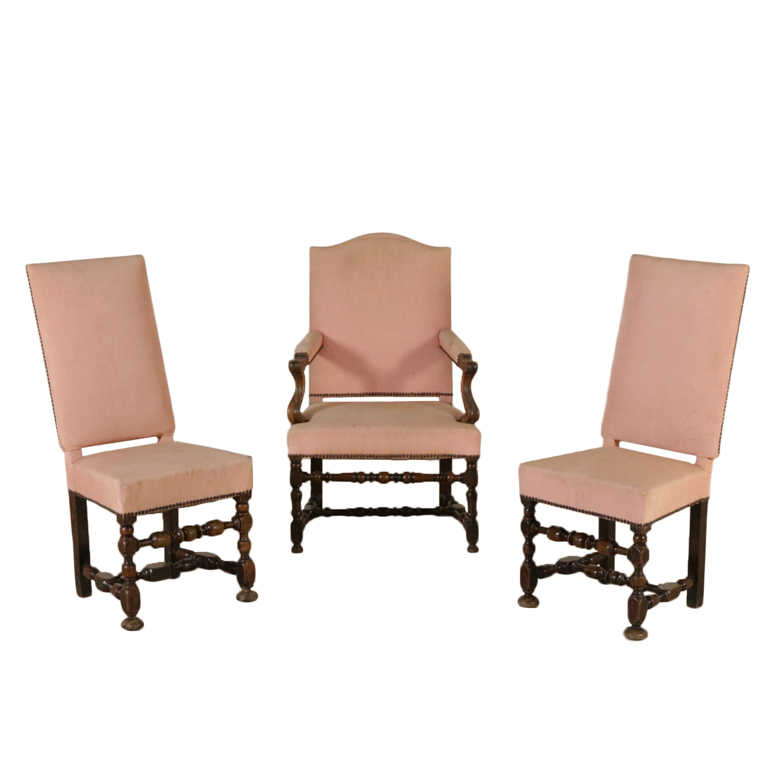 Poltrona e coppia sedie rocchetto sedie poltrone divani for Sedie a poltrona