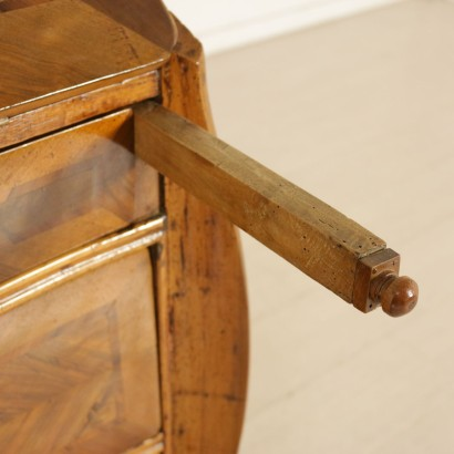 Drop-Leaf Secretaire Walnut Olive Liguria Italy Mid 18th Century