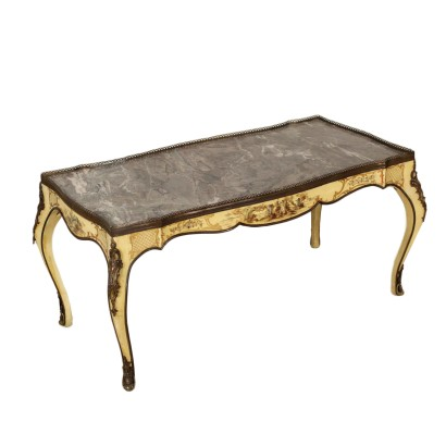 Coffee Table Lacquered Wood Marble Italy First Half of 1900