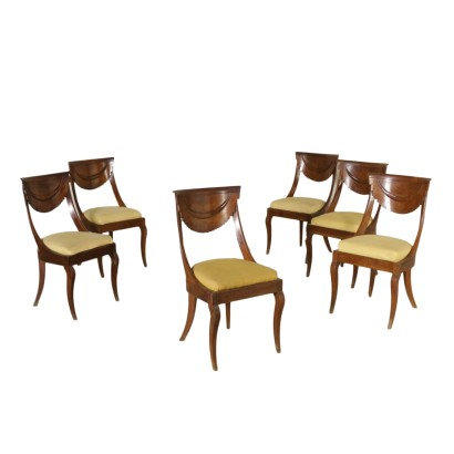 Set of Six Gondola Chairs Italy Second Quarter of 1800