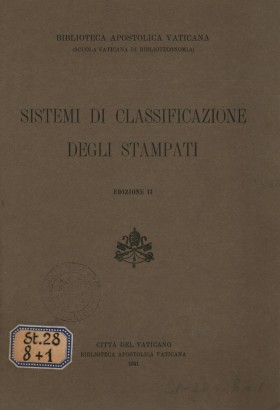 Systems of classification of the printed