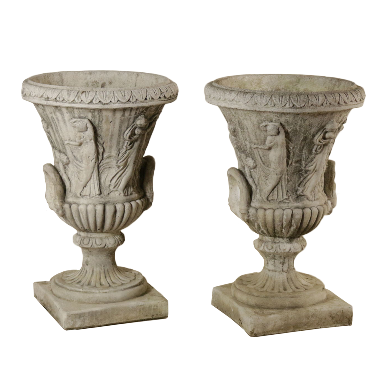 Vasi Per Giardino.Pair Of Garden Vases Manufactured In Italy Second Half Of