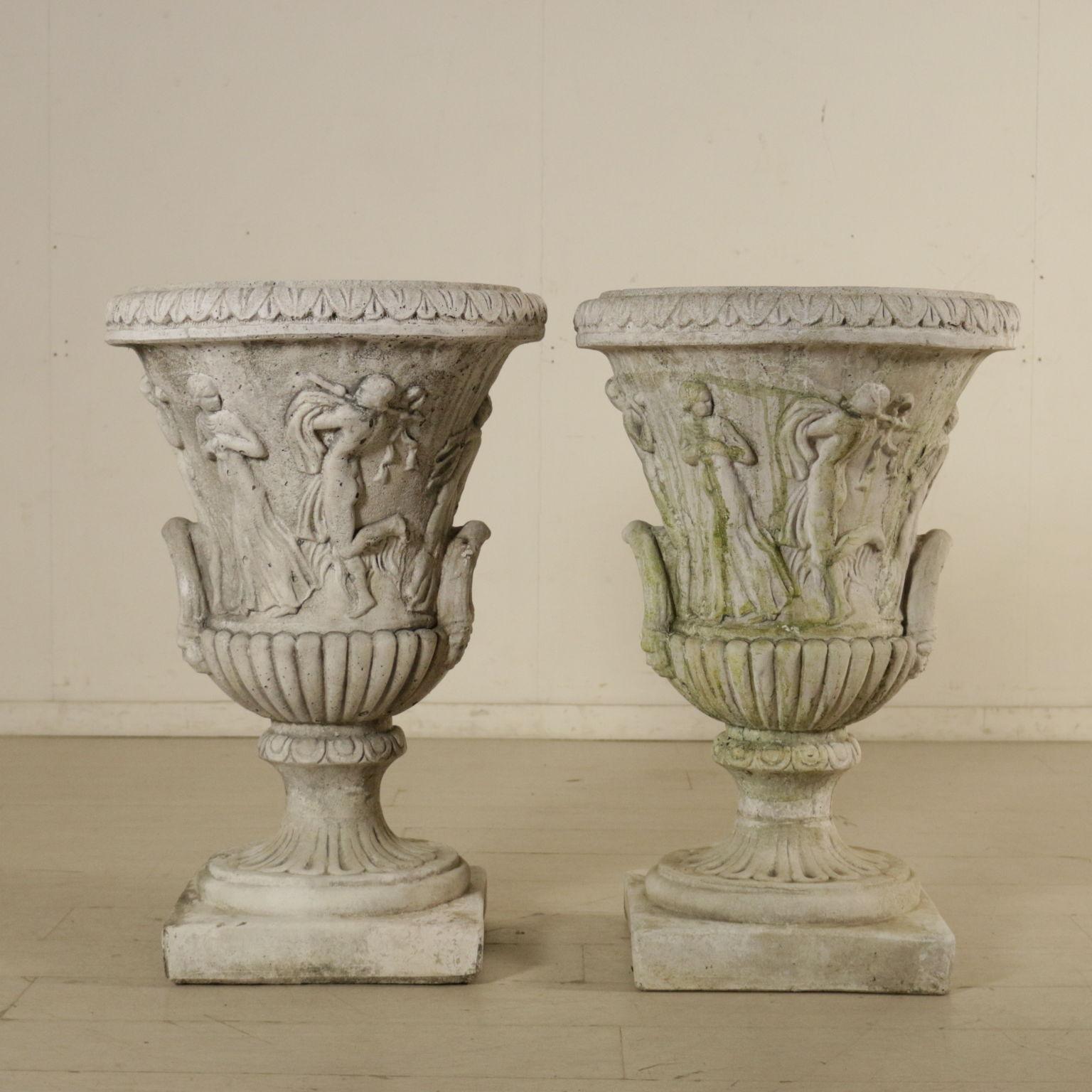 Coppia di vasi da giardino pietre e arredi giardino for Vasi ornamentali da giardino