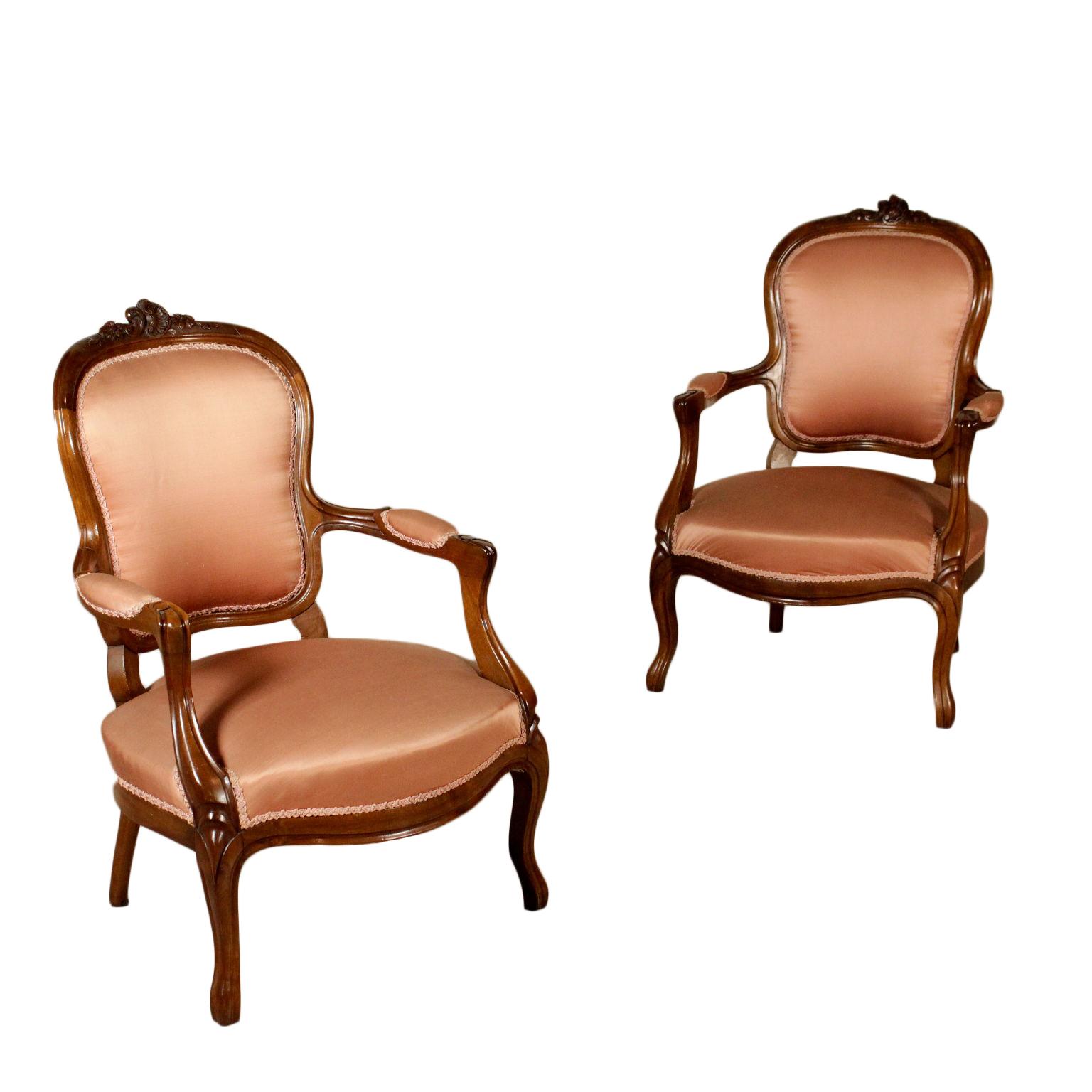 Coppia di poltrone sedie poltrone divani antiquariato for Poltrone sedie