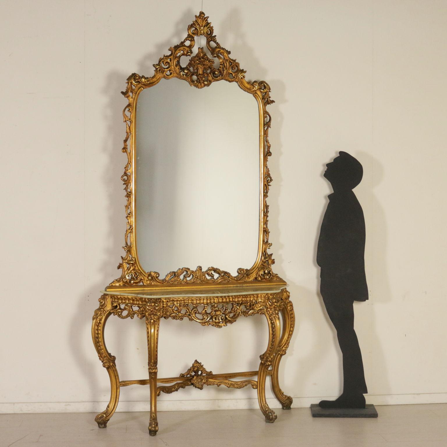Consolle con Specchio - Mobili in stile - Bottega del 900 ...